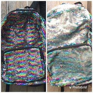 💕3/$25 🌈Rainbow silver holograph Sequins b…